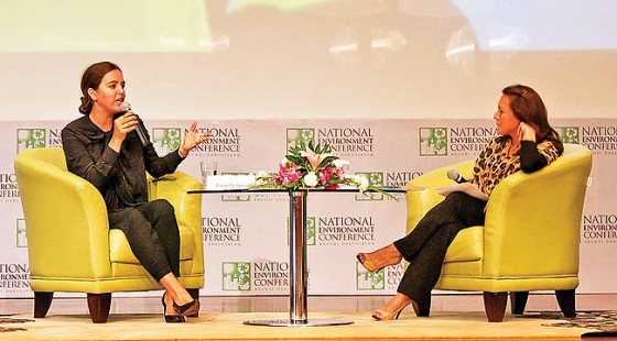 Co-Founder of Teens Turning Green, Erin Schrode, converses with moderator, Jenny Malai Ali. – PHOTOS: DANIAL NORJIDI