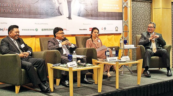 Panelists engage in a 'Where is the Money' discussion which covered financing options for small and medium enterprises, as part of the second session of the Local Business Development Forum