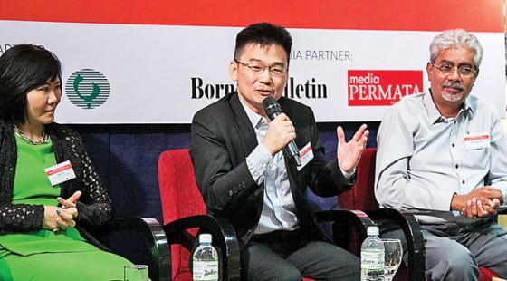 Dr Peter Ting, Chief Co-Creation Strategist & Co-Founder of the Strategic Co-Creation Group, Malaysia, speaking during the panel discussion. – DANIAL NORJIDI