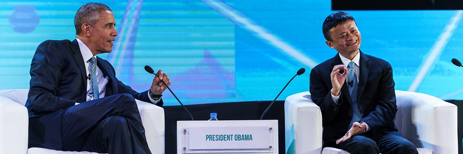 US President Barack Obama leading the discussion on sustainability at the APEC CEO Summit 2015 in Manila.